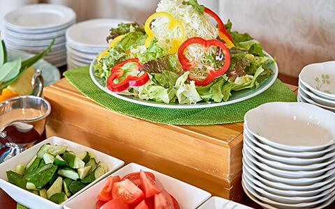 地元野菜の新鮮サラダ