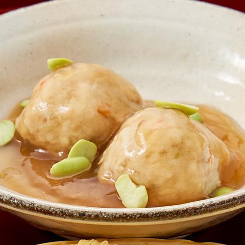梅酢で漬けた若鶏の揚げ煮 餡かけソース